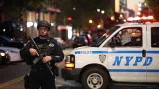Des policiers près deslieux de l'attentat qui a touché Manhattan, le 31 octobre 2017. (MAXPPP)