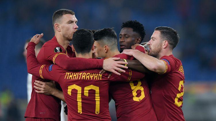 Les joueurs de l'AS Roma (GIUSEPPE MAFFIA / NURPHOTO)