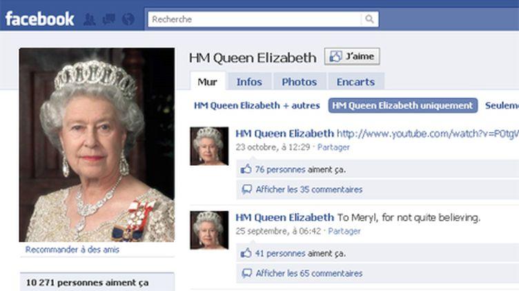 Elizabeth II débarque sur le réseau social (DR)