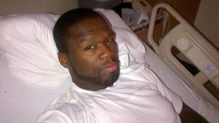 50 Cent communique par Twitter depuis son lit d'hôpital...  (DR)