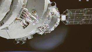 La station spatiale chinoise Tiangong-1 est photographiée le 24 juin 2012. (AP / SIPA)