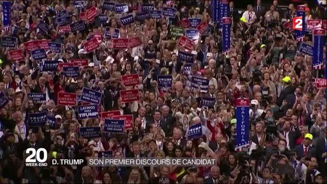 Premier discours du candidat Trump