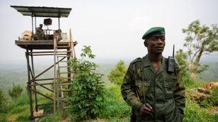 Des membres de l'Institut congolais pour la conservation de la nature, (ICCN) du parc des Virunga (ici en 2012). (Phil Moore/ AFP)
