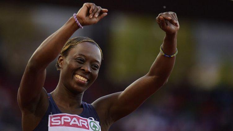 Myriam Soumaré, médaille de bronze sur 200 m aux championnats d'Europe à Zurich en 2014