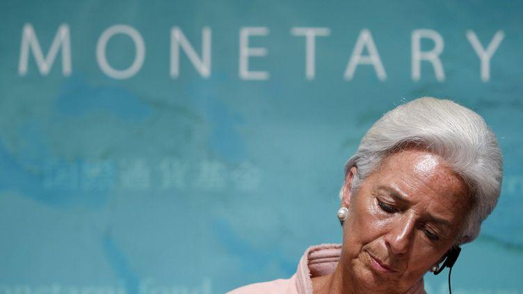 La directrice générale du FMI, Christine Lagarde, lors d'une conférence de presse à Tokyo (Japon), le 6 juillet 2012. (KIM KYUNG HOON / REUTERS)