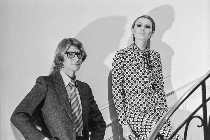 Yves Saint Laurent, en 1967 à Paris  (Georges Hernad / Ina)