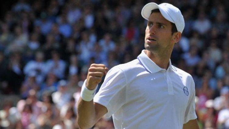 La rage du N.1 mondial Novak Djokovic (BEN STANSALL / AFP)