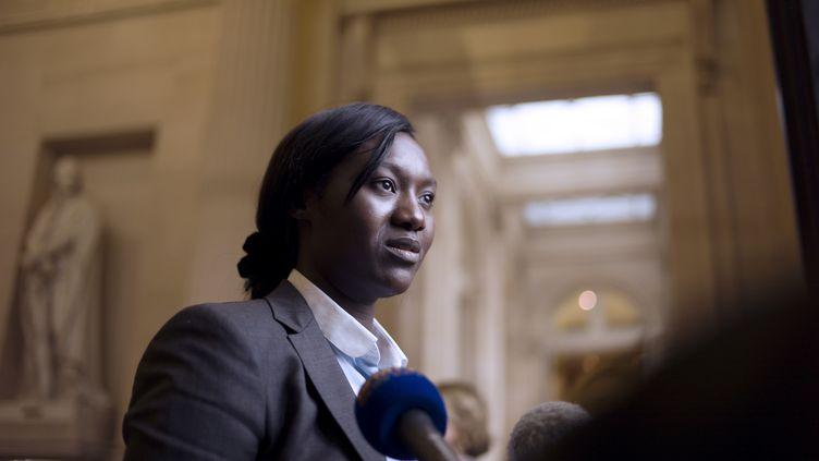 La députée socialisteSeybah Dagoma, le 18 juin 2012 à l'Assemblée nationale. Un islamiste radical, qui projetait de l'agresser, a été écroué mardi 3 novembre 2015. (FRED DUFOUR / AFP)