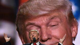 Le candidat républicain, Donald Trump, lorsdela convention d'investiture présidentielle du parti à Cleveland (Etats-Unis), le 21 juillet 2016. (TIMOTHY A. CLARY / AFP)