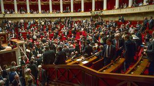 Les députés réunis à l'Assemblée nationale, à Paris, le 9 octobre 2013. (SIPA)
