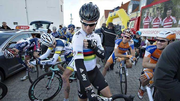 Mark Cavendish, vainqueur au sprint devant Philippe Gilbert