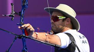 L'archer Jean-Charles Valladont lors des Jeux olympiques de Tokyo, le 24 juillet 2021. (CROSNIER JULIEN / KMSP)