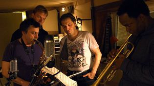 De gauche à droite, Pierrick Pédron, Thomas Bramerie, Franck Agulhon et Ambrose Akinmusire  (Act / Elise Dutartre)