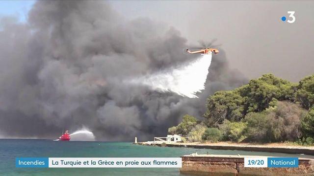 Incendies : les flammes font rage en Grèce et en Turquie