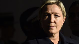 Marine Le Pen, présidente du Front national, à Paris, le 25 septembre 2014. (ERIC FEFERBERG / AFP)