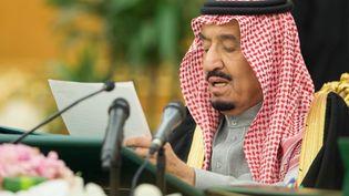 Le roi d'Arabie Salman bin Abdelaziz le 10 décembre 2015 à Ryad. (HO / SPA / AFP)