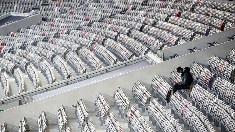 Le Stade de Toulouse (TFC) lors d'une rencontre de Coupe de France, le 20 janvier 2021.  (FR?D?RIC SCHEIBER / HANS LUCAS)