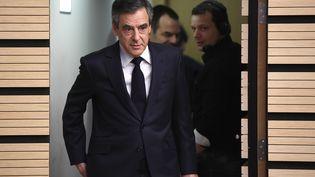 François Fillon arrive à l'Assemblée des départements français, le 8 mars 2017 à Paris. (ERIC FEFERBERG / AFP)