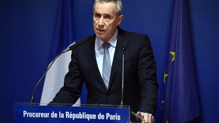 Le procureur de Paris, François Molins, donne une conférence de presse, le 18 avril 2017. (MARTIN BUREAU / AFP)