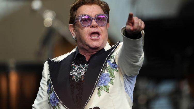 Elton John sur scène à Napier (Nouvelle-Zélande) le 6 février 2020. (KERRY MARSHALL / GETTY IMAGES ASIAPAC)