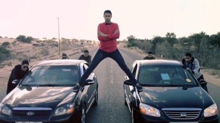 Vidéo parodique du groupe Tashweesh avec l'acteur Mahmmoud Zeiter (Gaza, le 5 février 2014). (AFP/Youtube/Tashweesh)