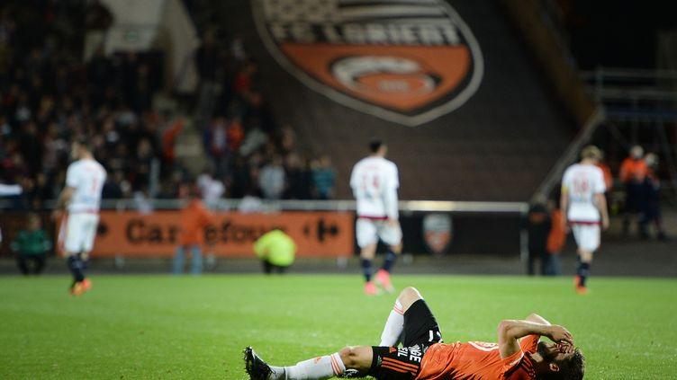 Jimmy Cabot et les Lorientais vont-ils se relever cette saison ? (JEAN-SEBASTIEN EVRARD / AFP)