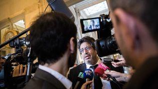 Ambiance salle des quatre colonnes durant la séance de questions au gouvernement a l'Assemblée nationale, en présence de Meyer Habib, àParis, le 31 janvier 2018. (CHRISTOPHE MORIN / MAXPPP)