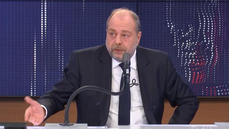 Le ministre de la Justice Eric Dupond-Moretti invité de franceinfo le 17 décembre 2020 (RADIO FRANCE)