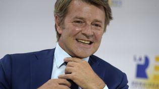 François Baroin, maire LR de Troyes, le 27 août 2020. (ERIC PIERMONT / AFP)