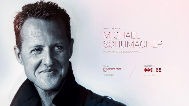 Le site web de Michael Schumacher a été réactivé, le 13 novembre 2014,à l'occasion du 20e anniversaire de son premier titre mondial. (MICHAEL-SCHUMACHER.DE)