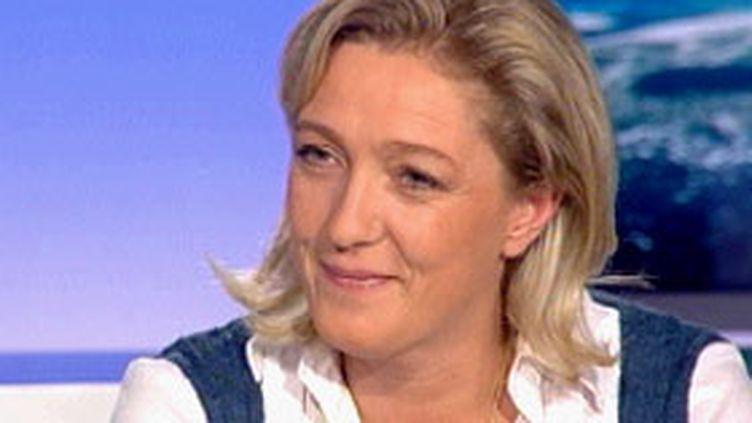 Marine le Pen, chef de file du Front national dans le Nord-Pas-de-Calais. (France 3)