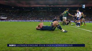 Les Bleus étaient déçus après leur défaite face aux Springboks. (FRANCE 3)
