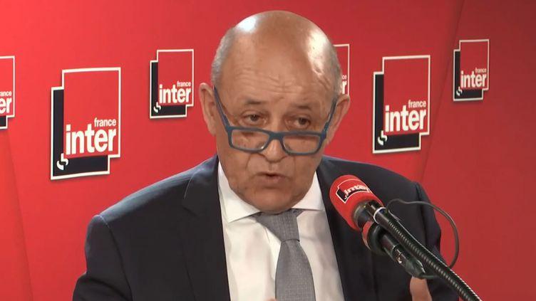 Jean-Yves Le Drian, sur France Inter, le 28 mai 2019. (France Inter)