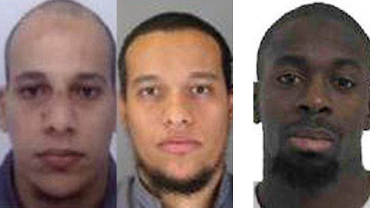 (Les frères Kouachi et Amedy Coulibaly © MAXPPP)