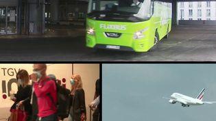 Déconfinement : le retour des voyageurs dans les bus, trains et en avions (France 3)
