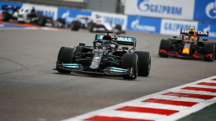 Lewis Hamilton lors du Grand Prix de Russie 2021. (XAVI BONILLA / XAVI BONILLA)