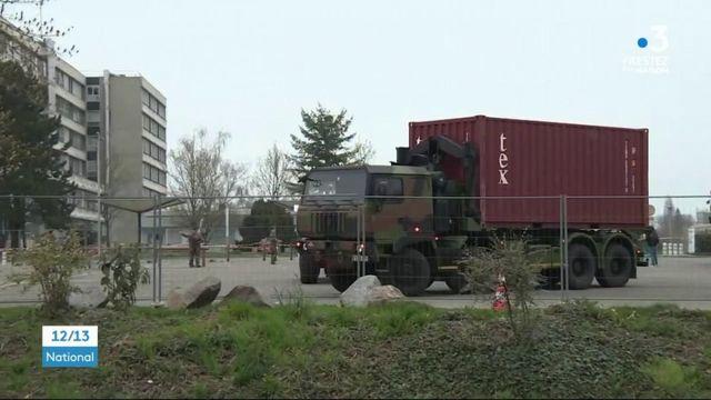 Mulhouse : un hopital en cours d'installation pour prendre en charge des malades du coronavirus