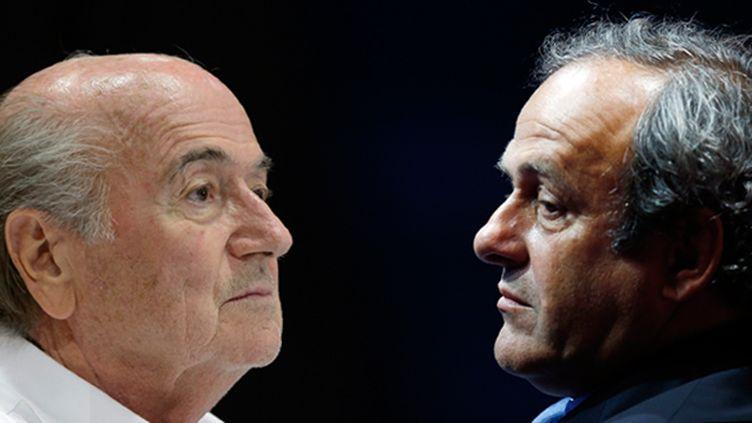 (Sepp Blatter et Michel Platin © Maxppp/ Reuters / Eric Gaillard)