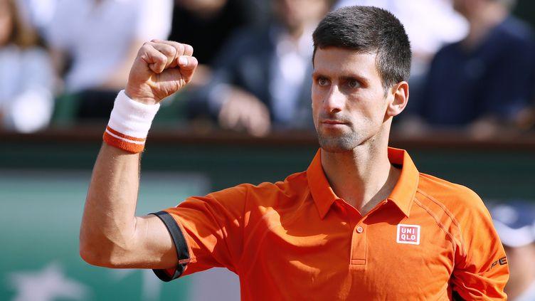 Novak Djokovic a éliminé Richard Gasquet en trois sets. (PATRICK KOVARIK / AFP)