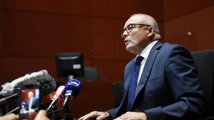 Le procureur de la Républiquede Nantes, Pierre Sennès, le 6 juilet 2018, lors d'une conférence de presse à Nantes (Loire-Atlantique). (SEBASTIEN SALOM GOMIS / AFP)