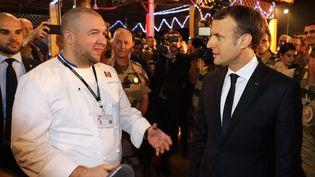 Le 24 février dernier, Guillaume Gomez a annoncé qu'il quittait les cuisines de l'Elysée pour devenir ambassadeur de la gastronomie française, au nom du président de la République, Emmanuel Macron. (LUDOVIC MARIN / AFP)