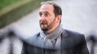 Christophe Arend arrive à l'Assemblée nationale, à Paris, le 14 novembre 2017. (MAXPPP)