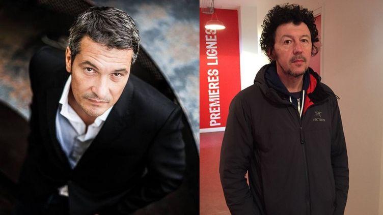 Les journalistes Jean-Louis Perez (G) et Pierre Chautard (D). (PREMIERES LIGNES / FRANCETV INFO)