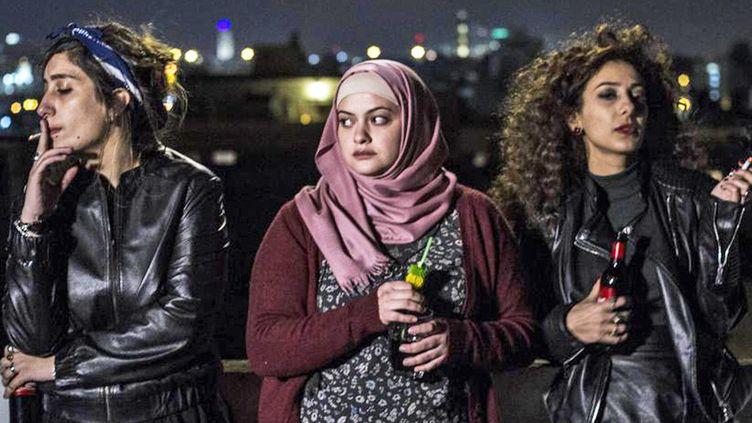 """Les trois actrices du film """"Je danserai si je veux"""" de Maysaloum Hamoud.  (Paname Distribution)"""