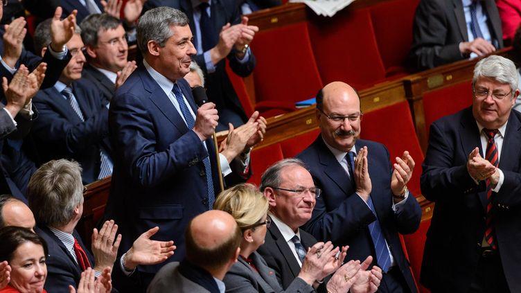 Le député UMP Henri Guaino, le 2 avril 2013, lors de la séance des questions au gouvernement, à l'Assemblée nationale, à Paris. ( MAXPPP)