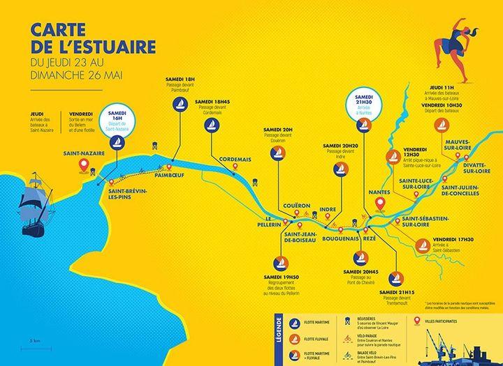 Carte du festival Débord de Loire 2019 (Débord de Loire 2019)