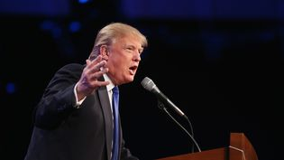 Donald Trump, le 16 mai 2015 à Des Moines, dans l'Iowa (Etats-Unis). (SCOTT OLSON / GETTY IMAGES NORTH AMERICA)