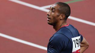 Le sprinteur français Jimmy Vicaut aux Jeux olympiques de Tokyo, le 31 juillet 2021. (GIUSEPPE CACACE / AFP)