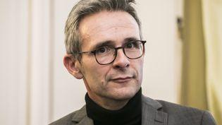Stéphane Troussel,président du conseil départemental de Seine-Saint-Denis et porte-parole de la candidate à la primaire duPS, était l'invité de franceinfo, jeudi 14 octobre 2021. (VINCENT ISORE / MAXPPP)
