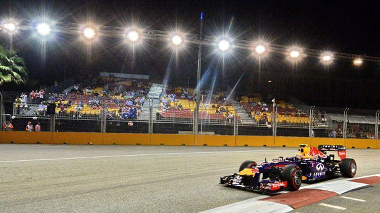 Vettel se promène à Singapour (ROSLAN RAHMAN / AFP)